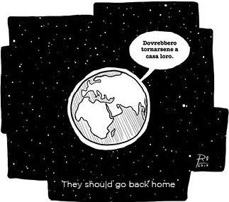 racism cartoon